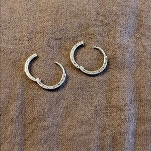 Pandora Jewelry - Pandora silver hoops